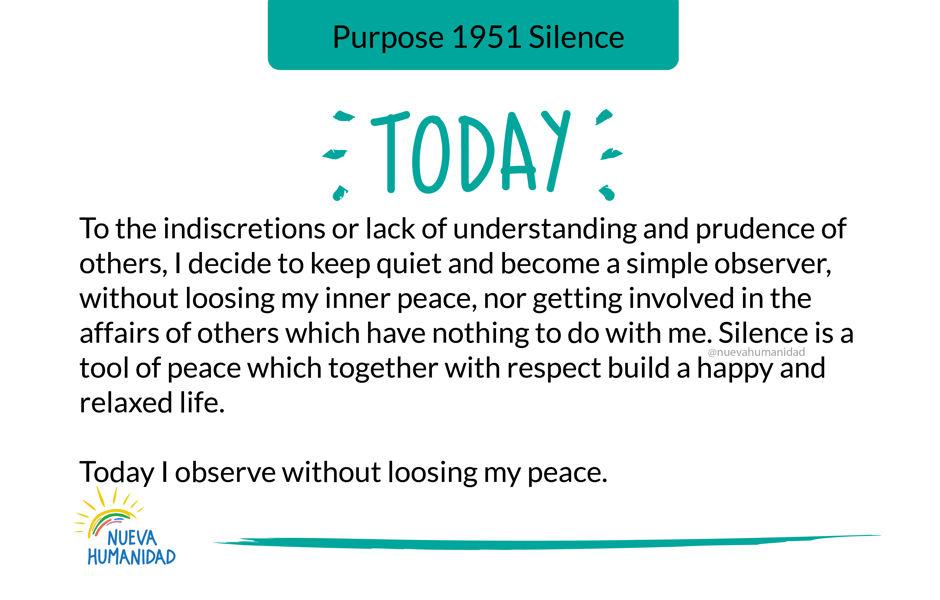 Purpose 1951 Silence