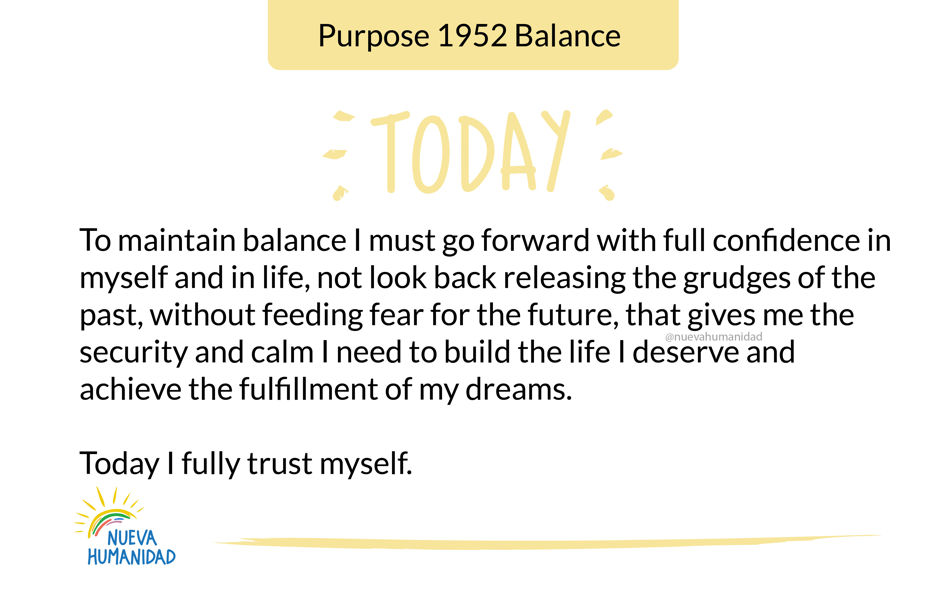 Purpose 1952 Balance