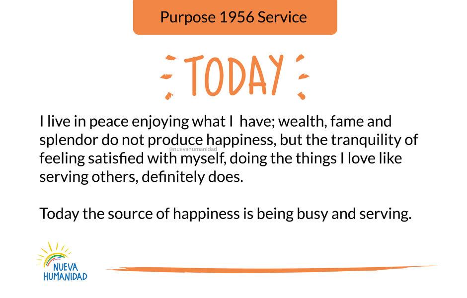 Purpose 1956 Service