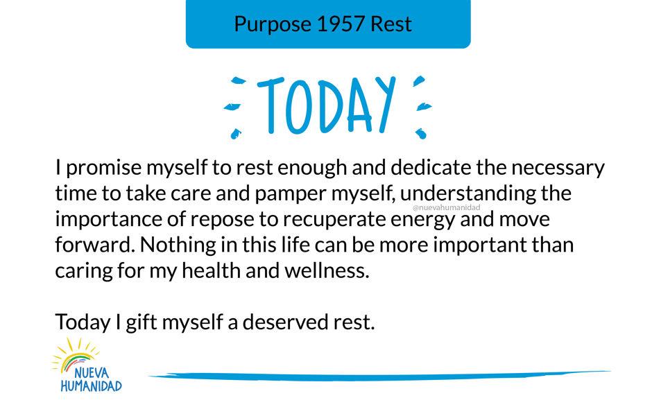 Purpose 1957 Rest