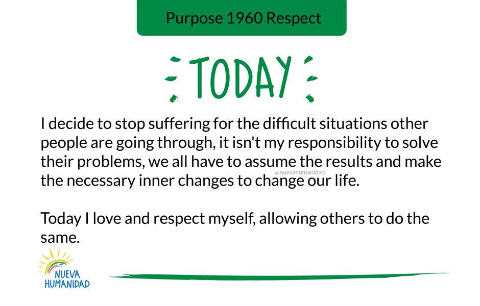 Purpose 1960 Respect