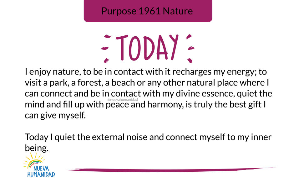 Purpose 1961 Nature