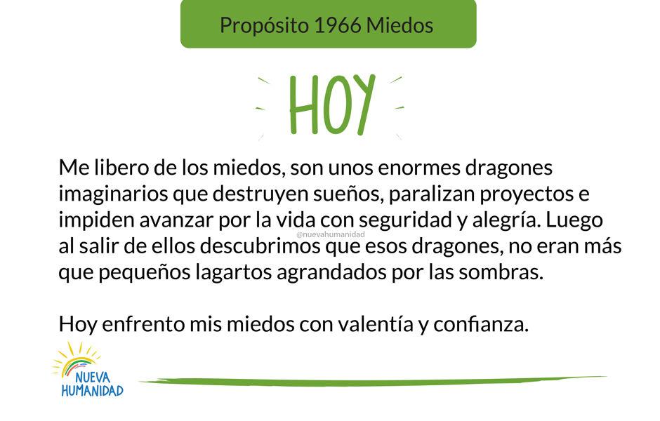 Propósito 1966 Miedos