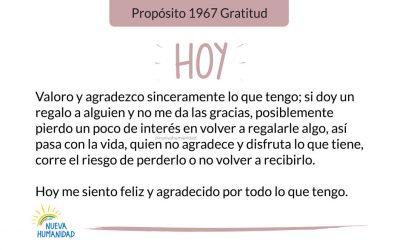 Propósito 1967 Gratitud