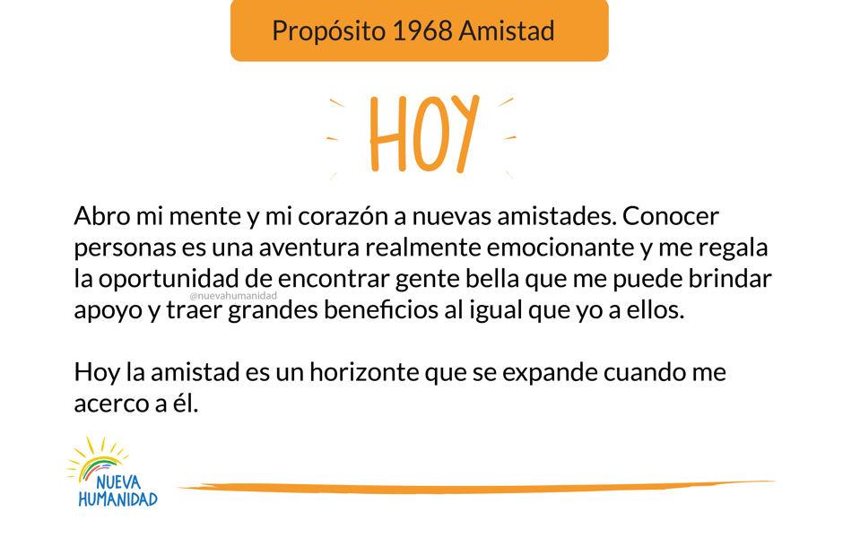 Propósito 1968 Amistad