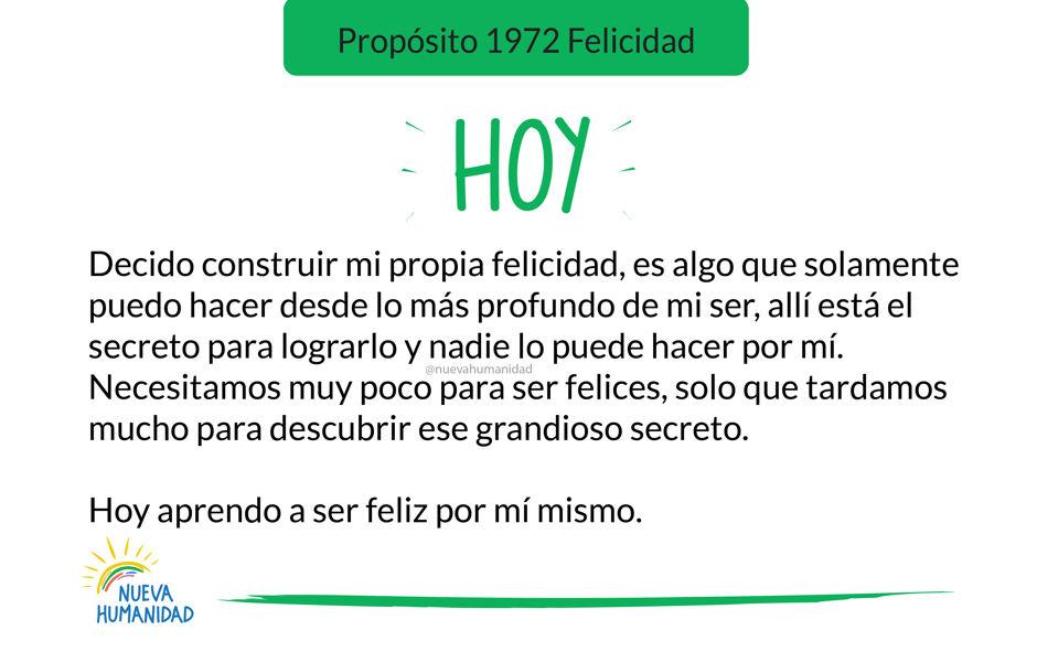 Propósito 1972 Felicidad