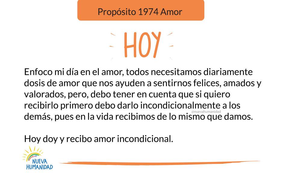 Propósito 1974 Amor