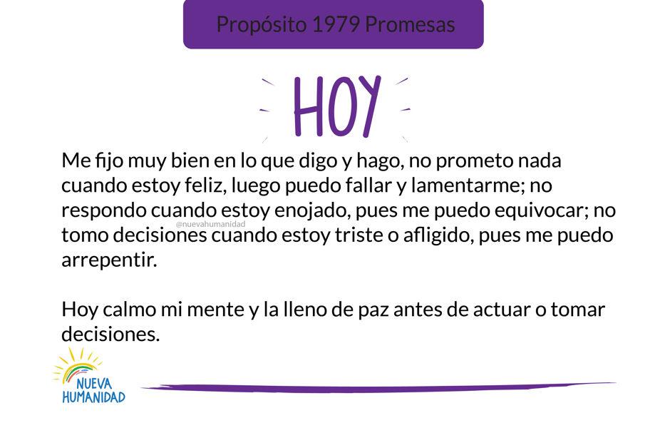 Propósito 1979 Promesas