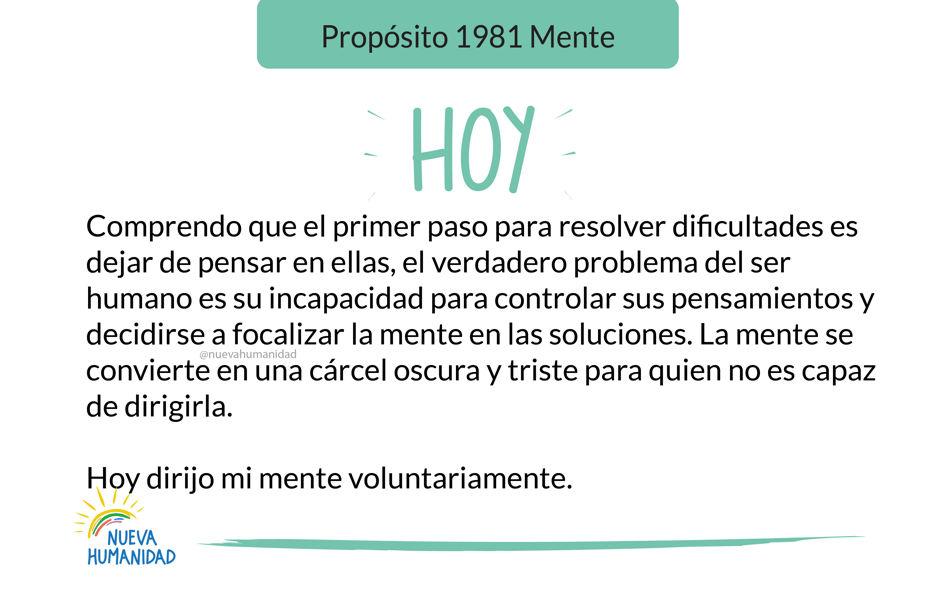 Propósito 1981 Mente