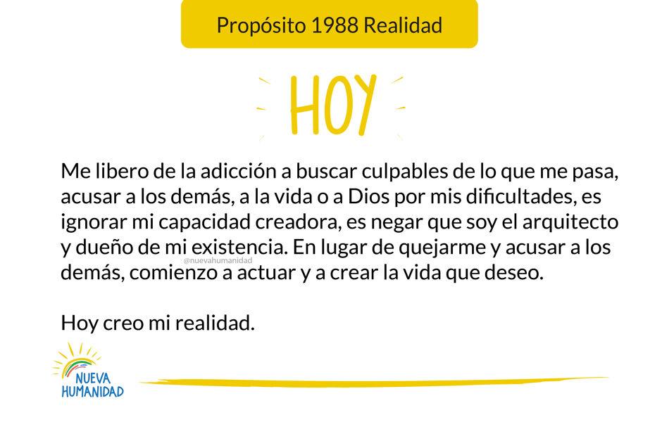 Propósito 1988 Realidad
