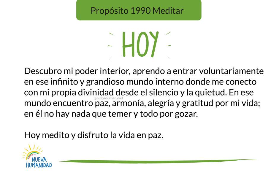 Propósito 1990 Meditar