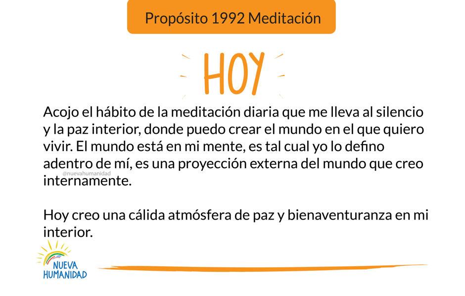 Propósito 1992 Meditación