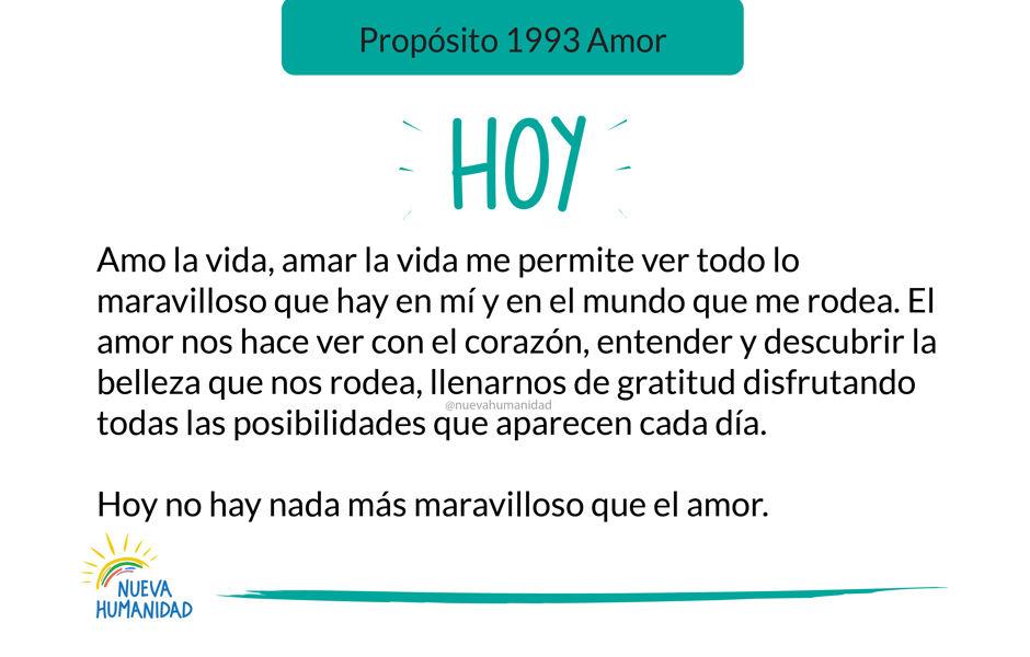 Propósito 1993 Amor