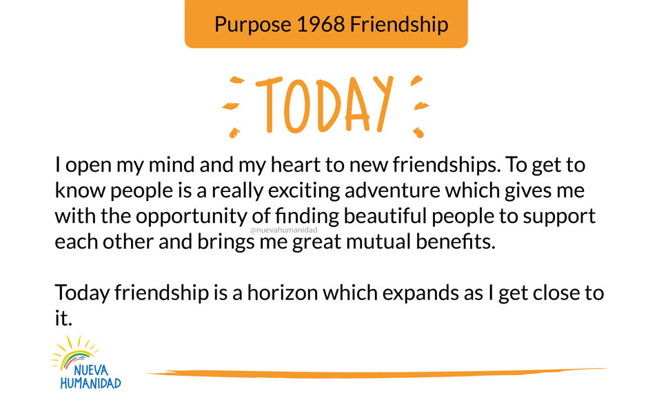 Purpose 1968 Friendship