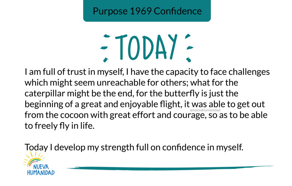 Purpose 1969 Confidence