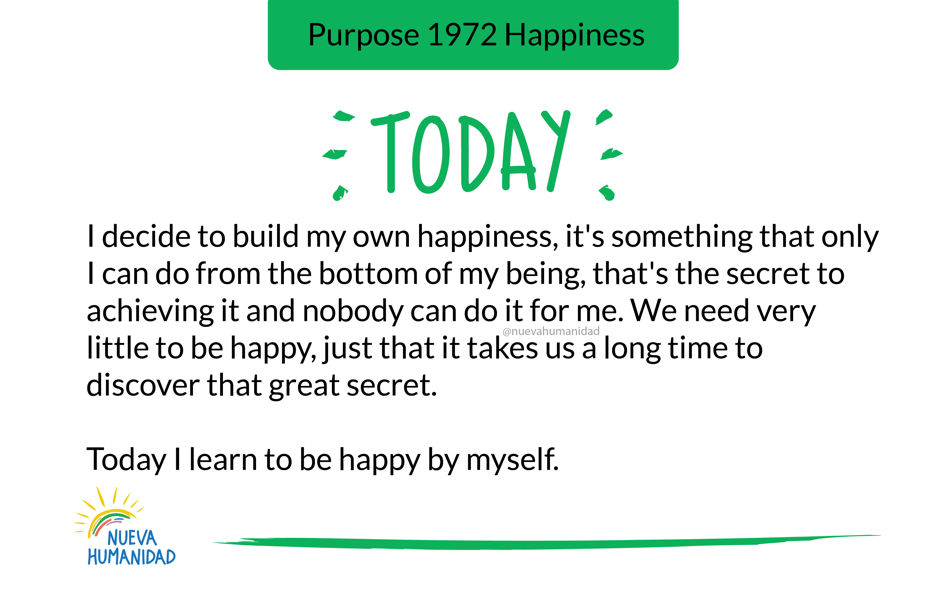 Purpose 1972 Happiness