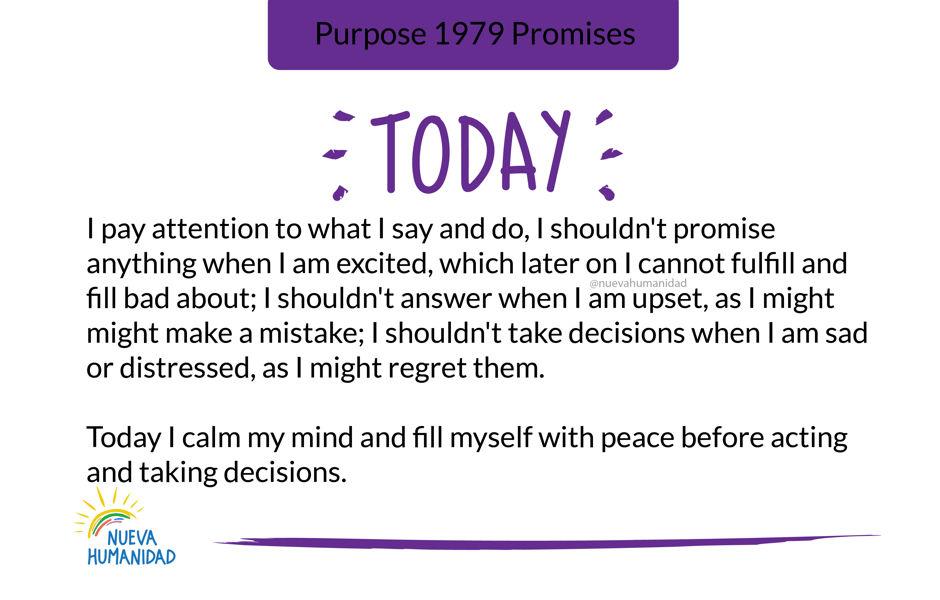 Purpose 1979 Promises