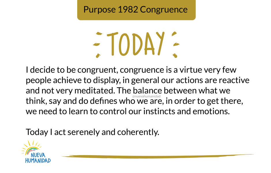 Purpose 1982 Congruence