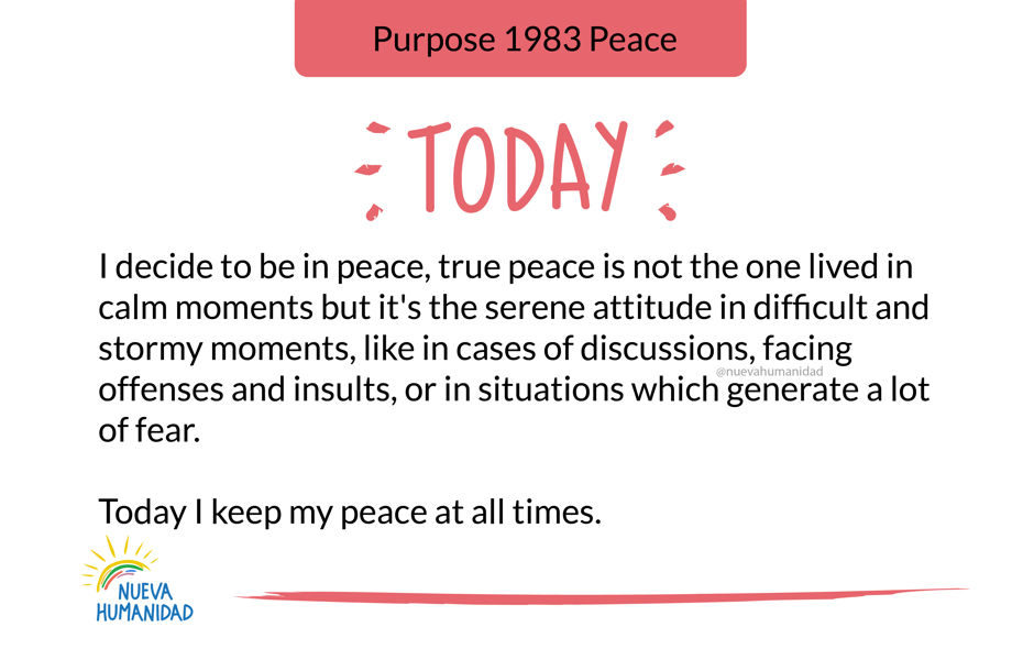 Purpose 1983 Peace