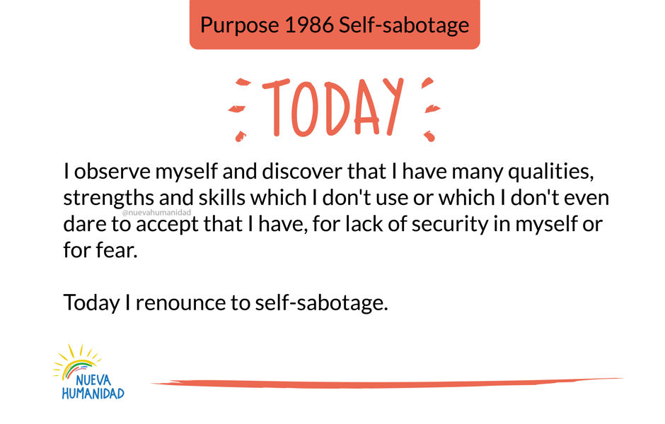 Purpose 1986 Self-sabotage