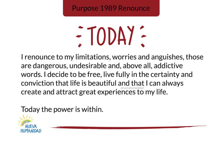 Purpose 1989 Renounce