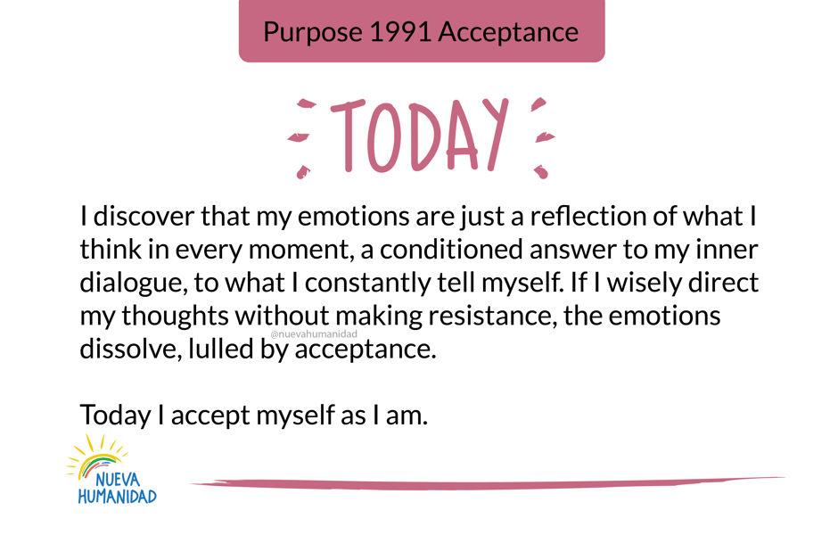 Purpose 1991 Acceptance