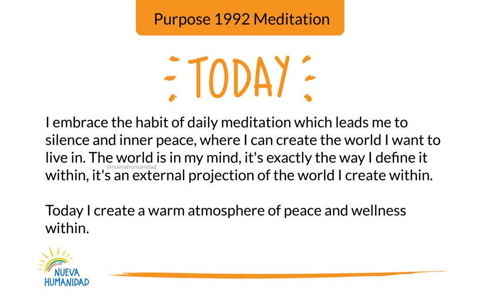 Purpose 1992 Meditation