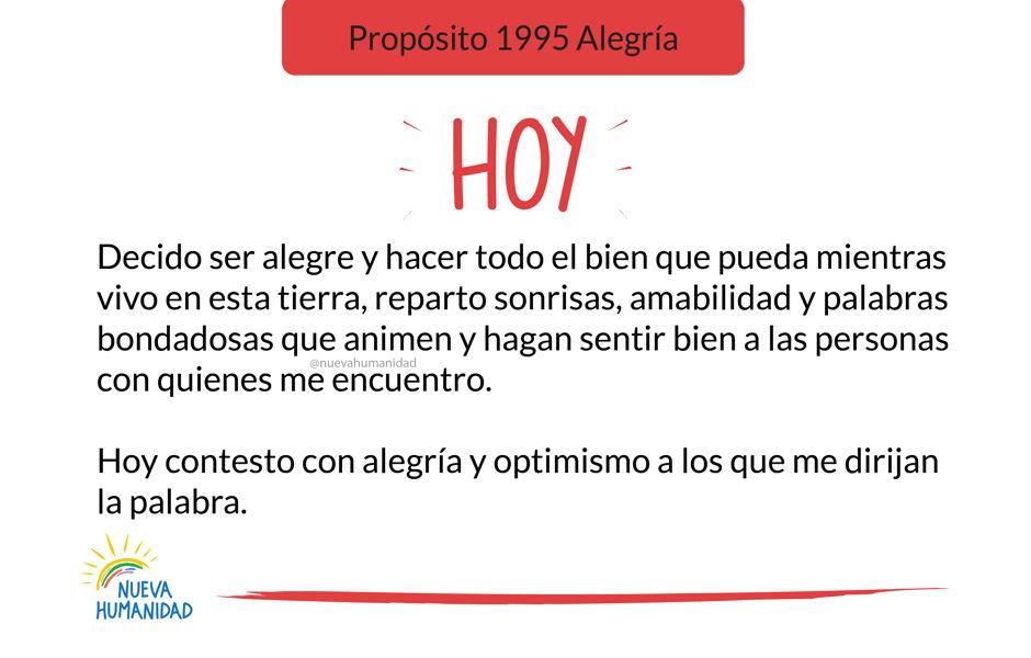 Propósito 1995 Alegría