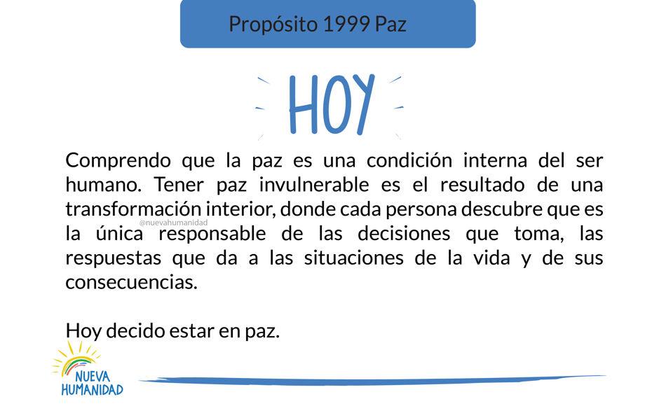 Propósito 1999 Paz