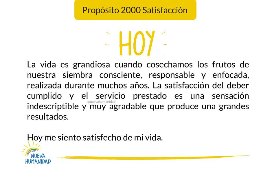 Propósito 2000 Satisfacción