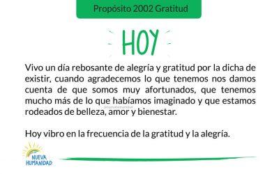 Propósito 2002 Gratitud