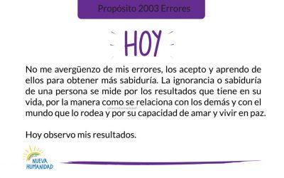 Propósito 2003 Errores