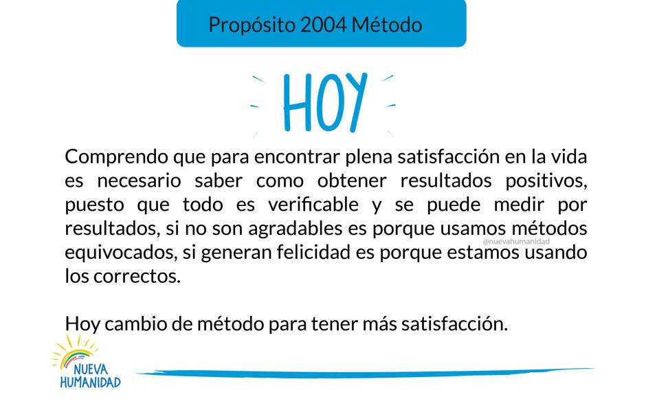 Propósito 2004 Método