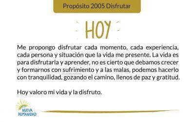 Propósito 2005 Disfrutar