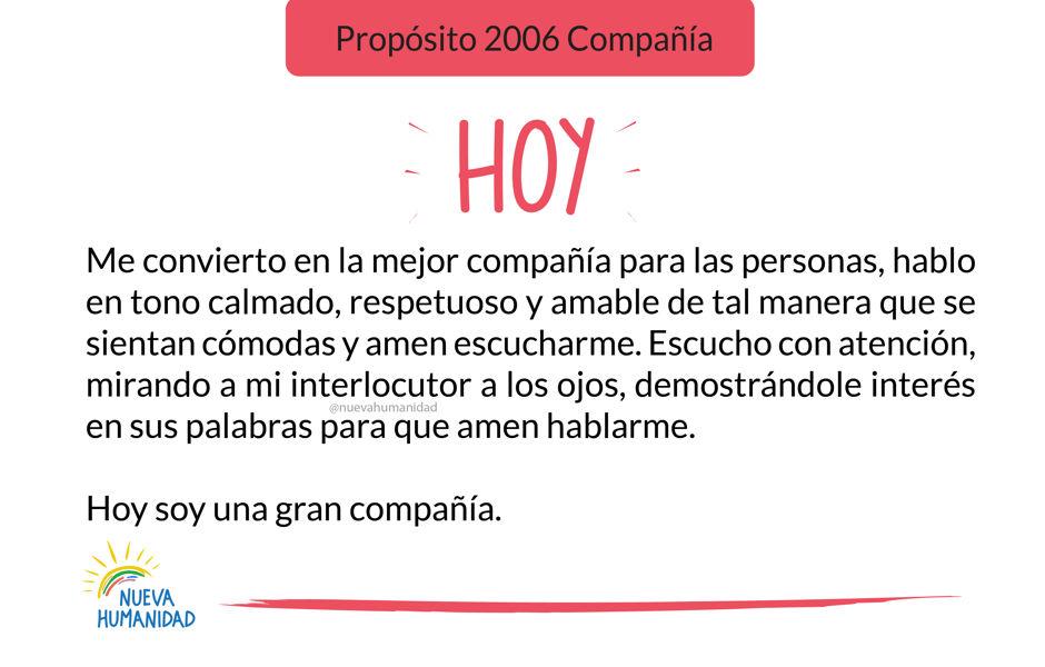 Propósito 2006 Compañía
