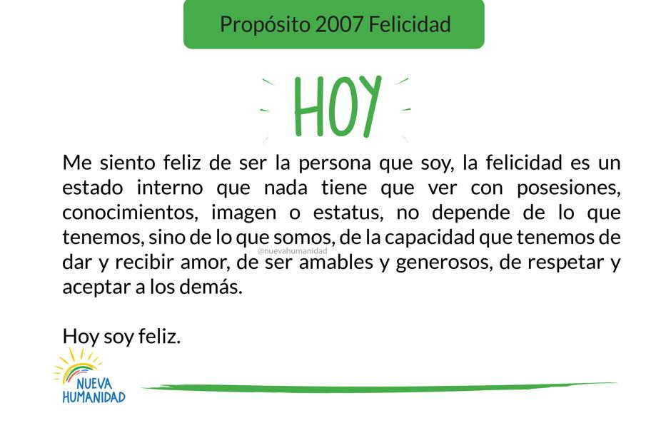 Propósito 2007 Felicidad
