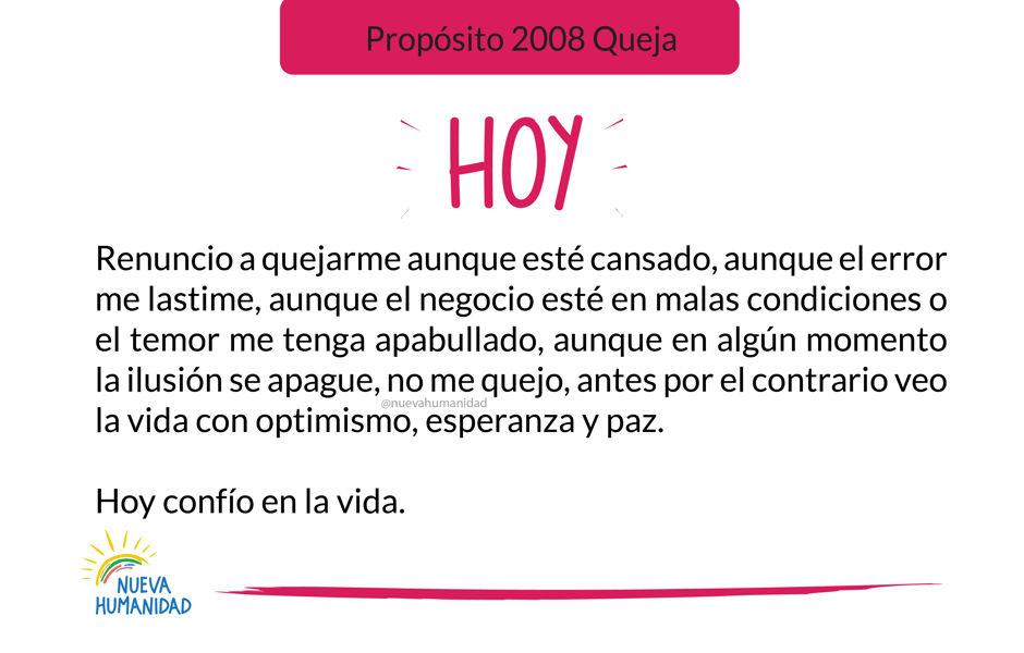Propósito 2008 Queja
