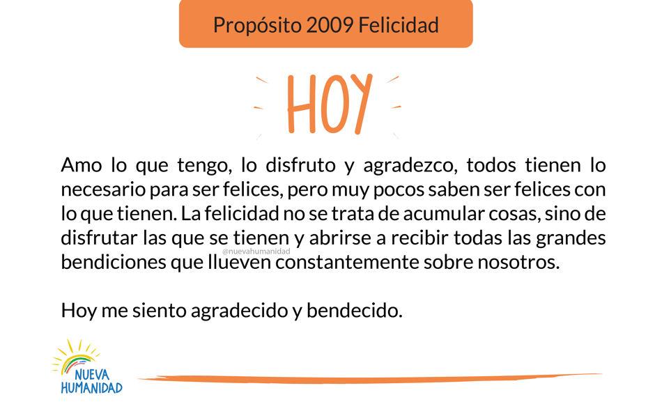 Propósito 2009 Felicidad