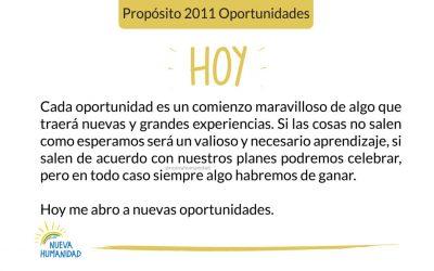 Propósito 2011 Oportunidades