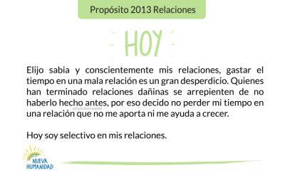 Propósito 2013 Relaciones