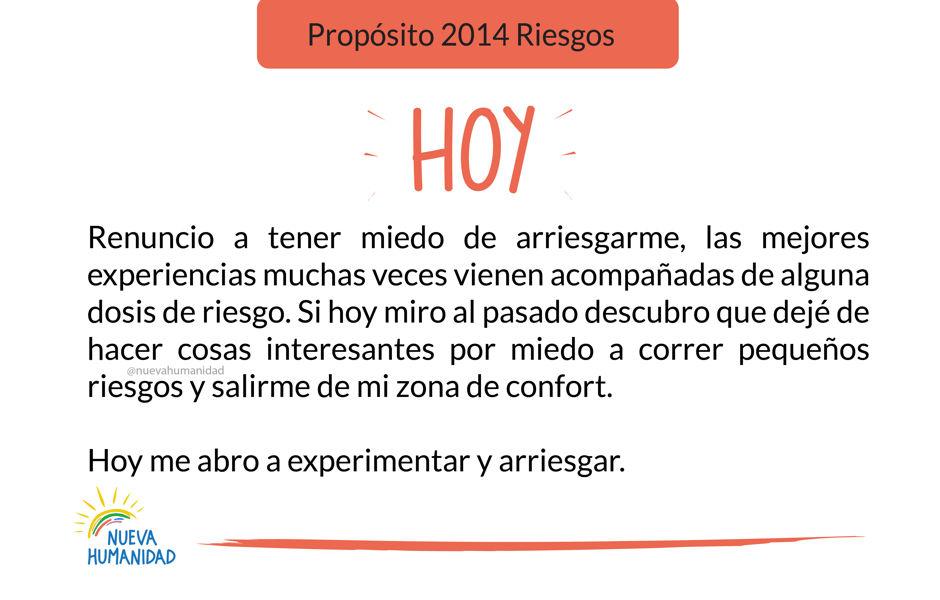 Propósito 2014 Riesgos