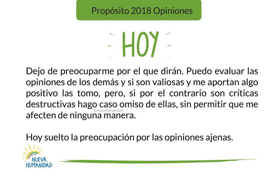 Propósito 2018 Opiniones