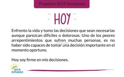Propósito 2019 Decisiones