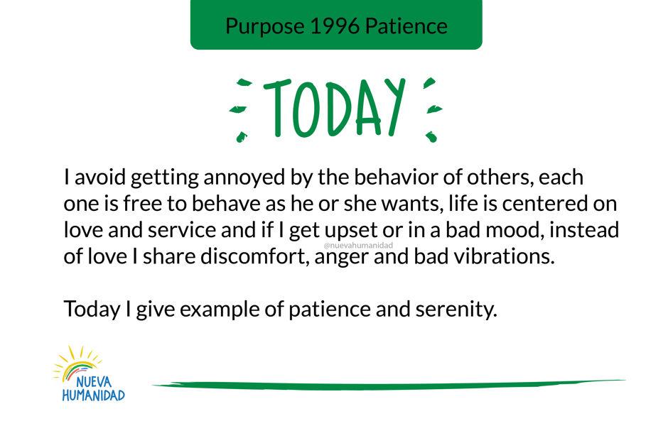 Purpose 1996 Patience