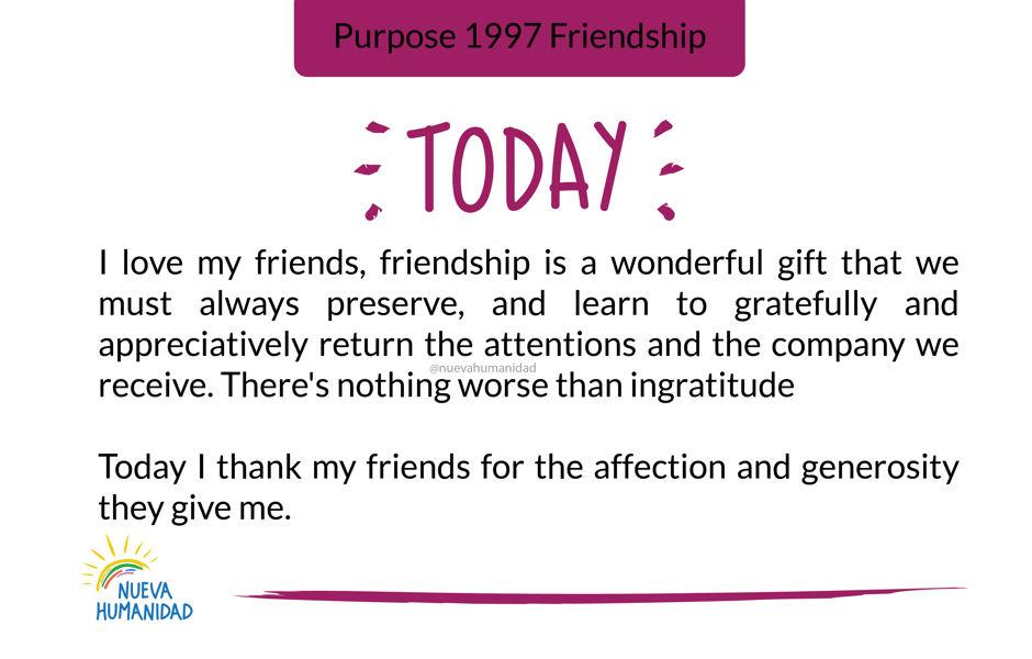 Purpose 1997 Friendship