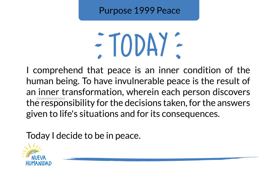 Purpose 1999 Peace