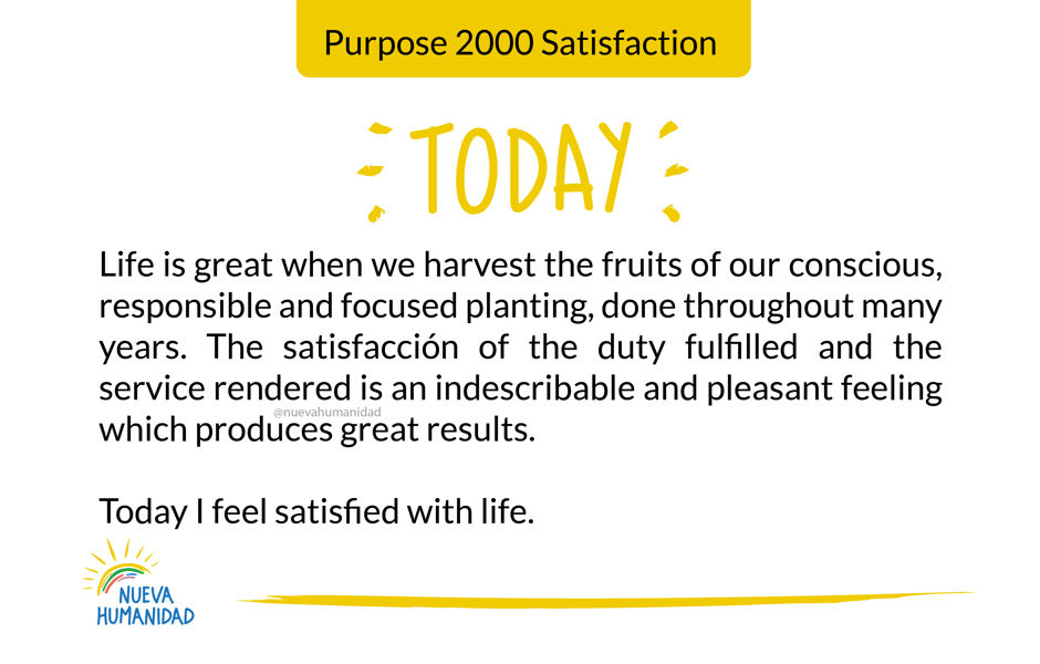 Purpose 2000 Satisfaction