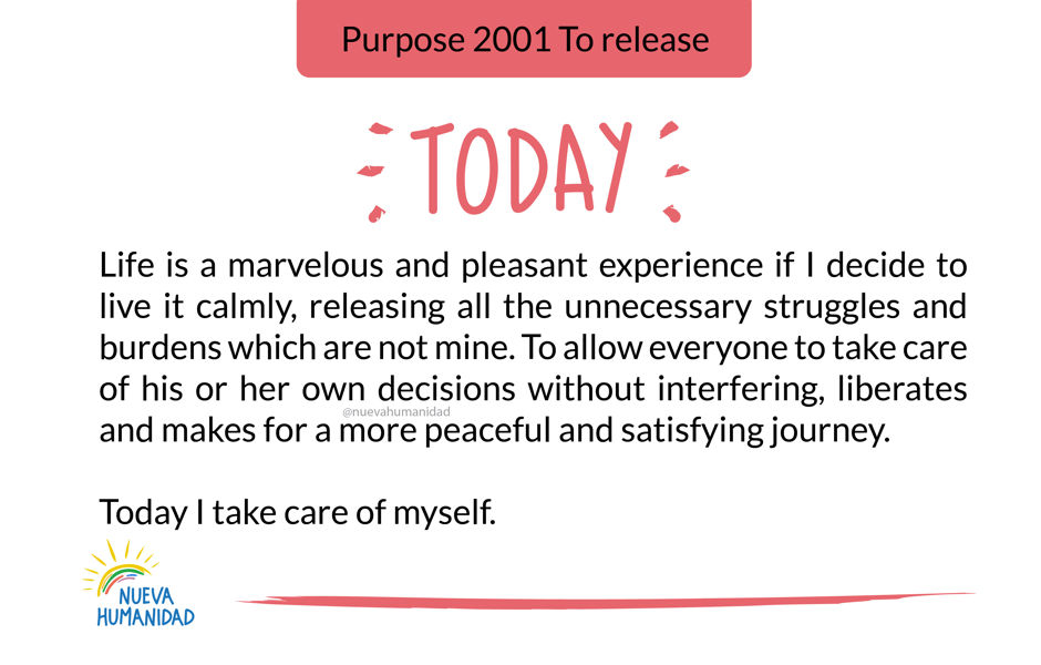 Purpose 2001 To release