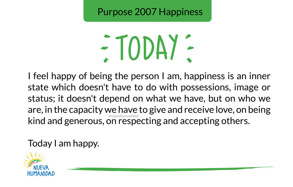 Purpose 2007 Happiness