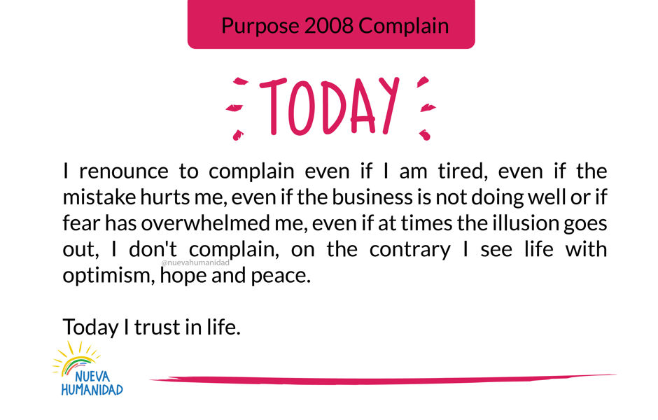 Purpose 2008 Complain